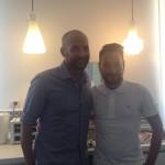 Massimiliano e Giovanni nella sala colazioni