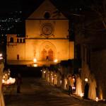 La Basilica Superiore di San Francesco durante il Calendimaggio